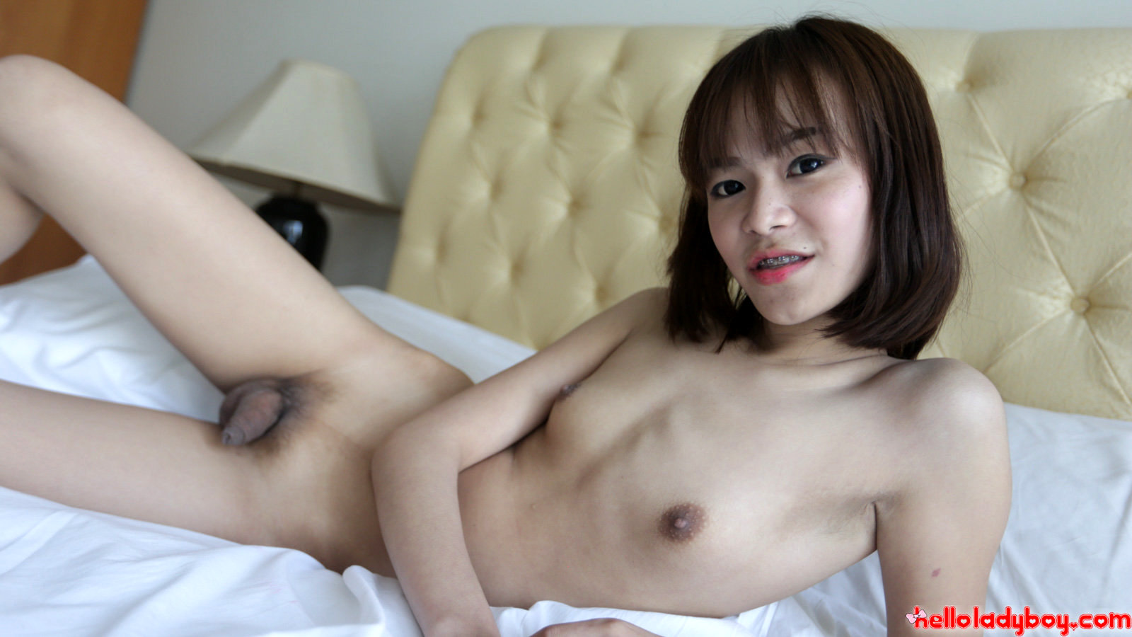 19 Year Old Girlie Asian Ladyboy With Tiny Boobs Gets A Facial