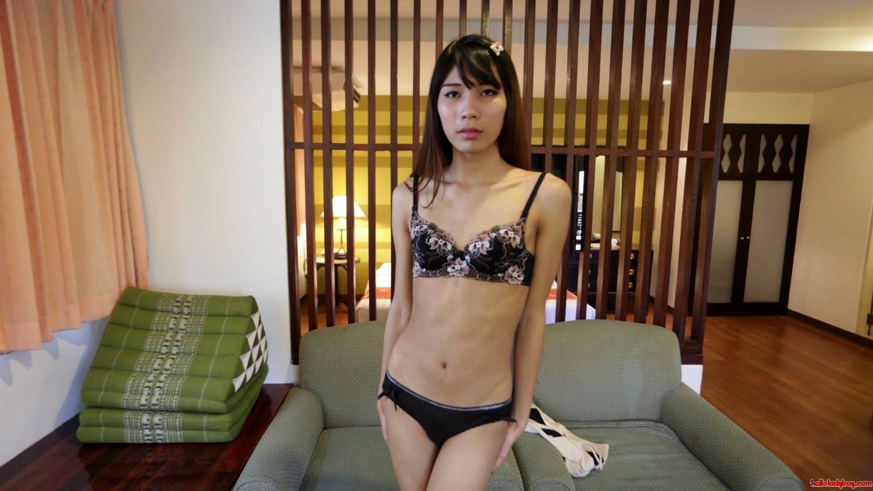 19 Year Old Beautiful And Naughty Asian Shemale Sucks Off White Dick