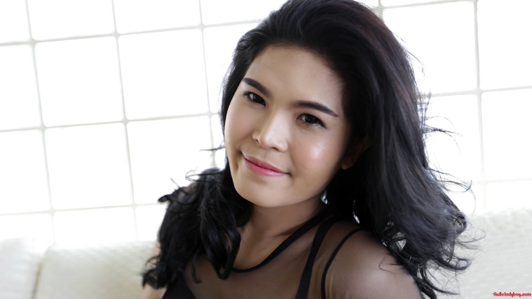 23 Year Old Naughty Asian Ts With Raven Hair Andfake Breasts Striptease
