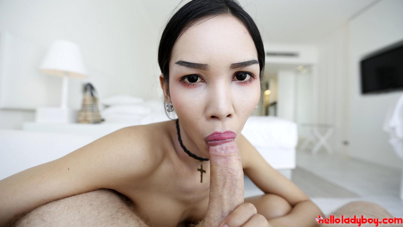 Asian Ts Fashionista Sucks White Tourist Penis