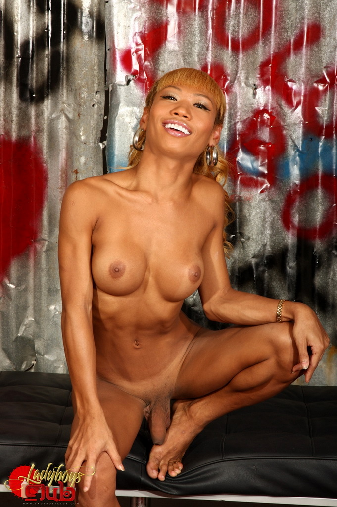 Exotic TS Cindy Shows Us Her Massive Tool