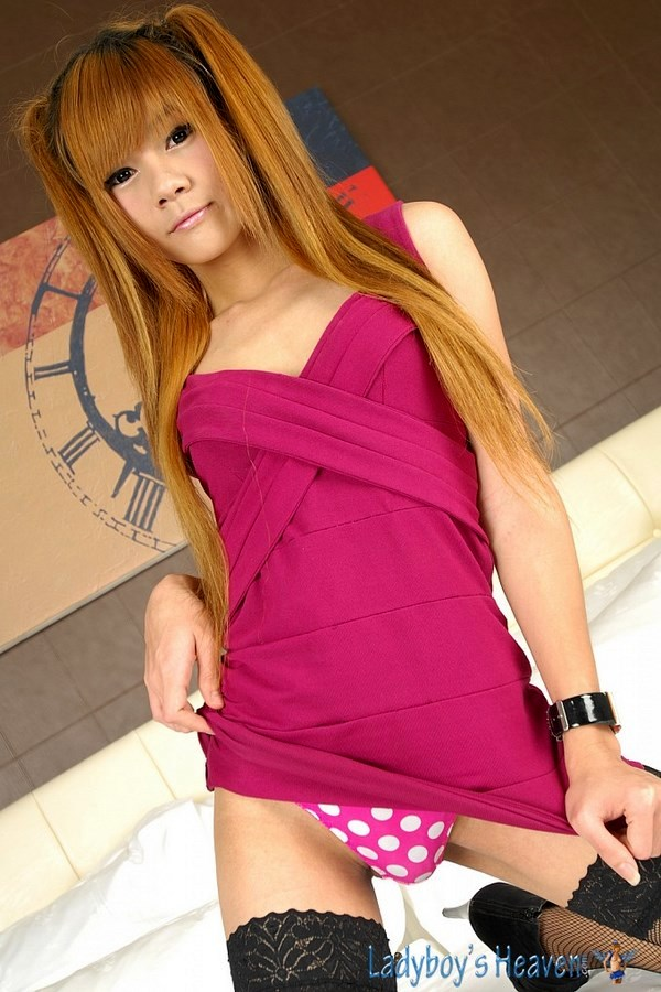Innocent In Pink Femboy Ping In Pigtails