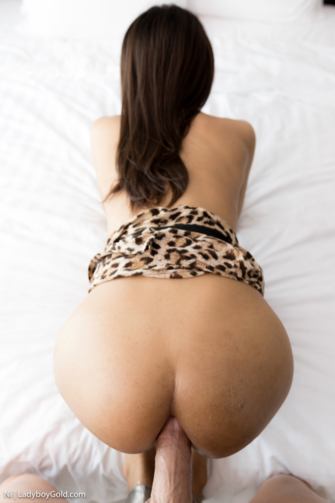 Massive Cock Bare Back In Leopard Skirt