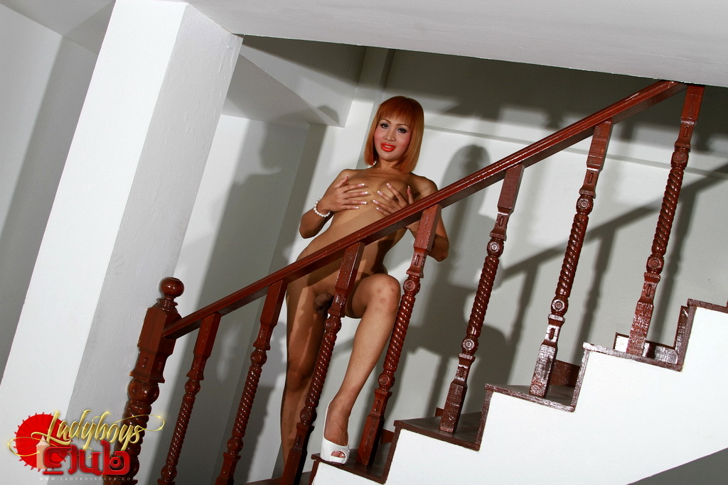 Nasty Tanya Posing On The Stairs
