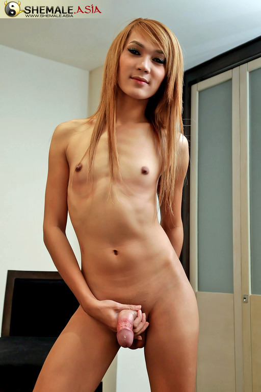 Perfect Pretty Transexual Gets Slutty Jerking Off
