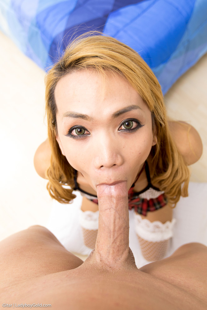 School-Girl On A Huge Hard Tool