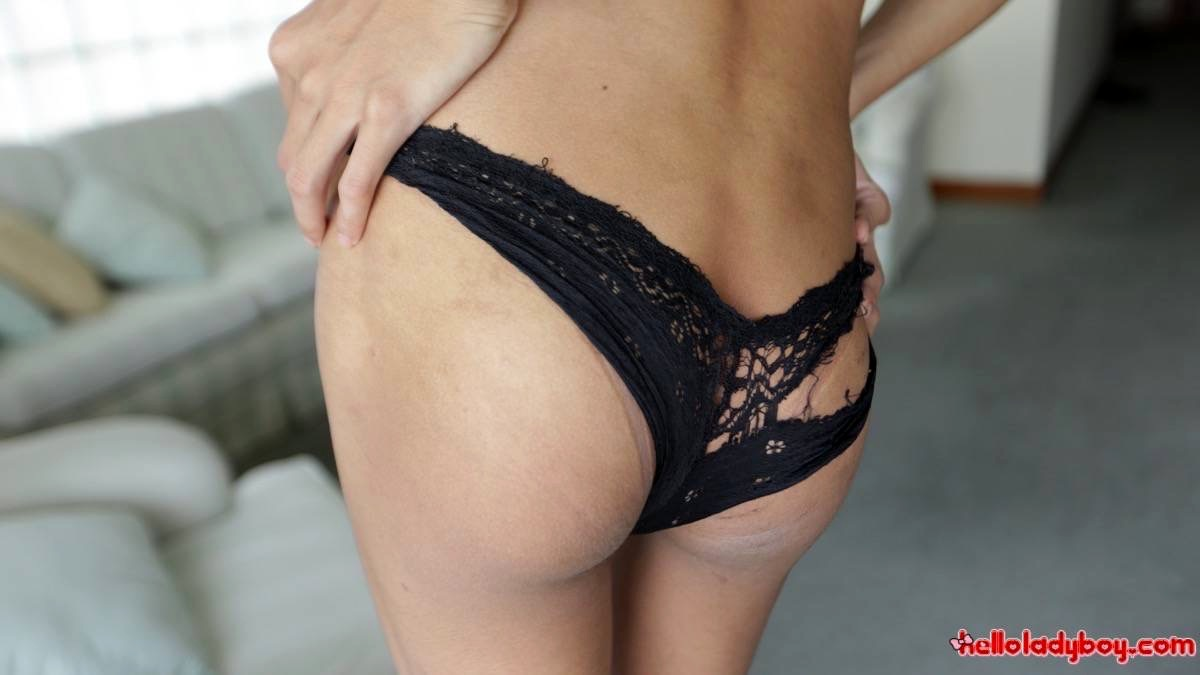 Slim Titillating Asian Tgirl Desires Bum Packing From White Tourist