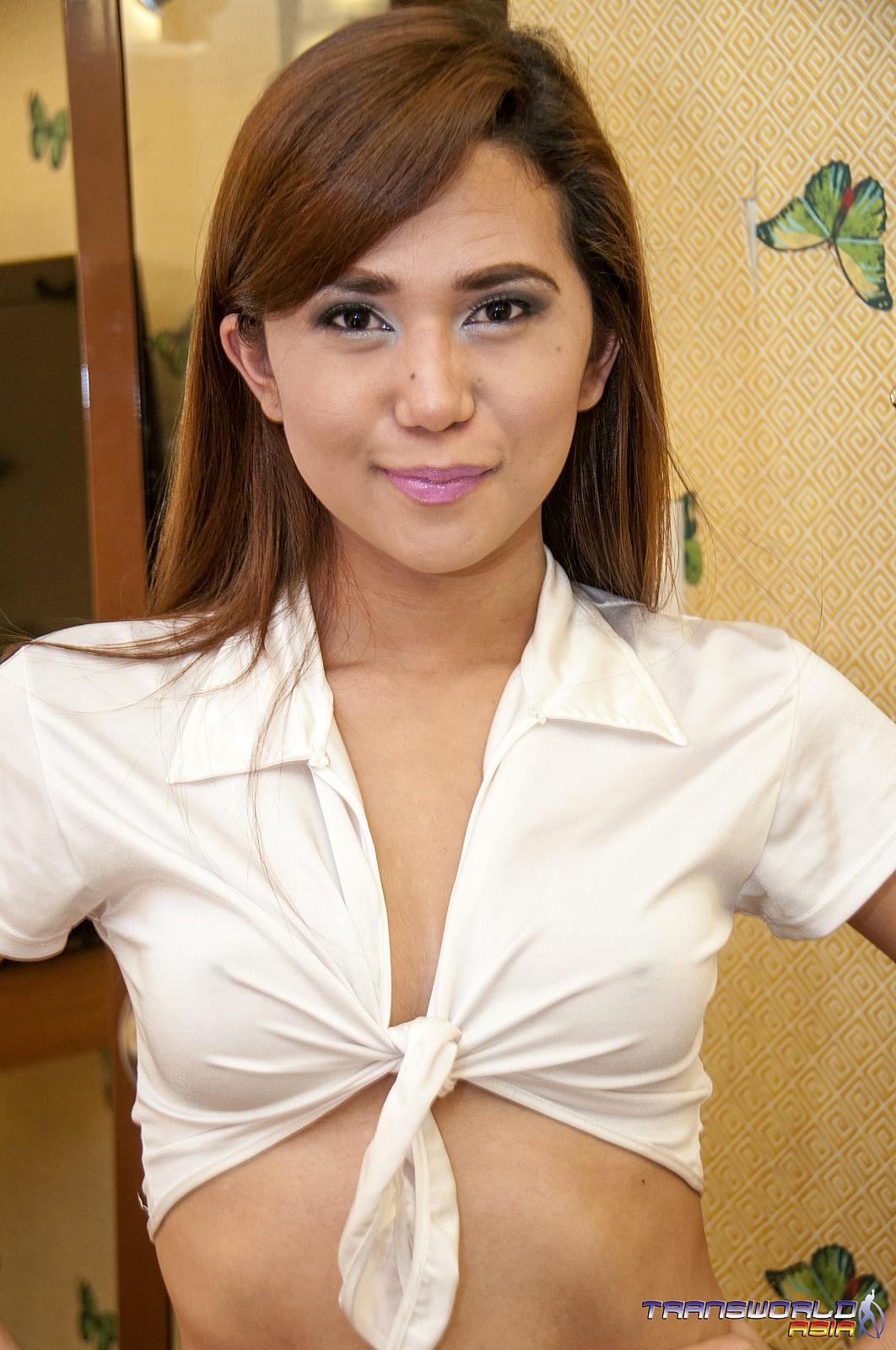 Thai School-Girl TGirl Has A Really Massive She Tool