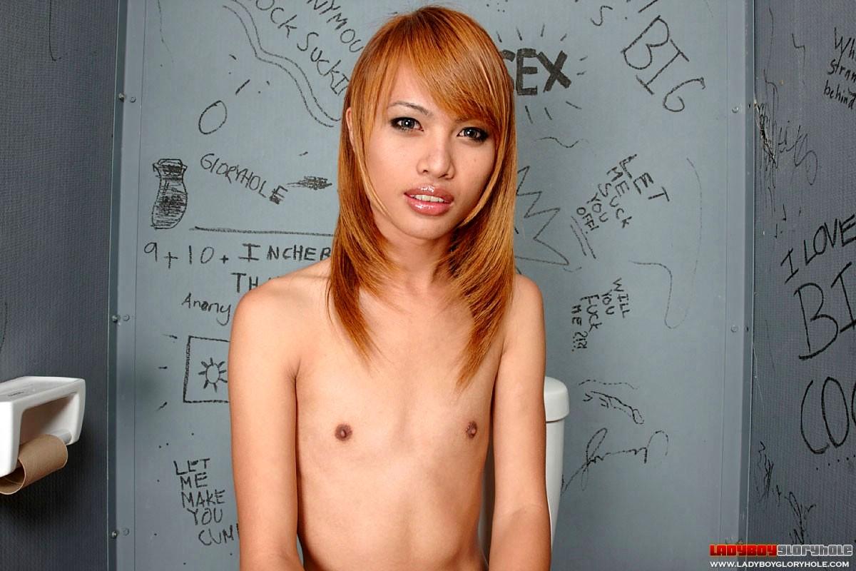 Thai Tranny Pim Amazed By A Tool Bigger Than Her Arm