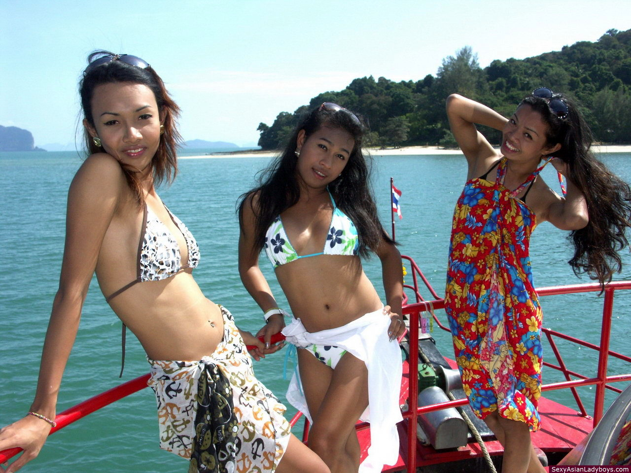 Three Innocent Femboys Guide Us In A Tropical Cruise In The South Of Thailand