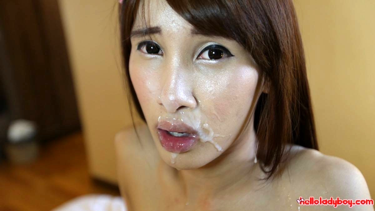 Tinie Asian TGirl With Huge Penis Craves Foreign Cock