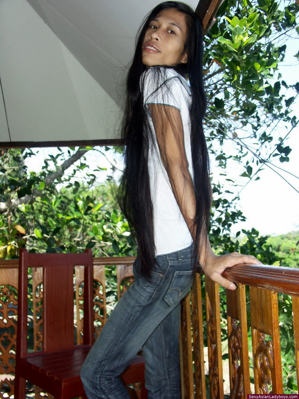 Very Slender Asian T-Girl Stripping For Us