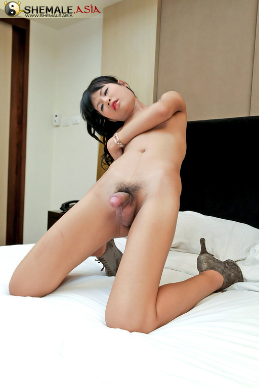 Wild Masturbating T-Girl Can't Wait To Explode