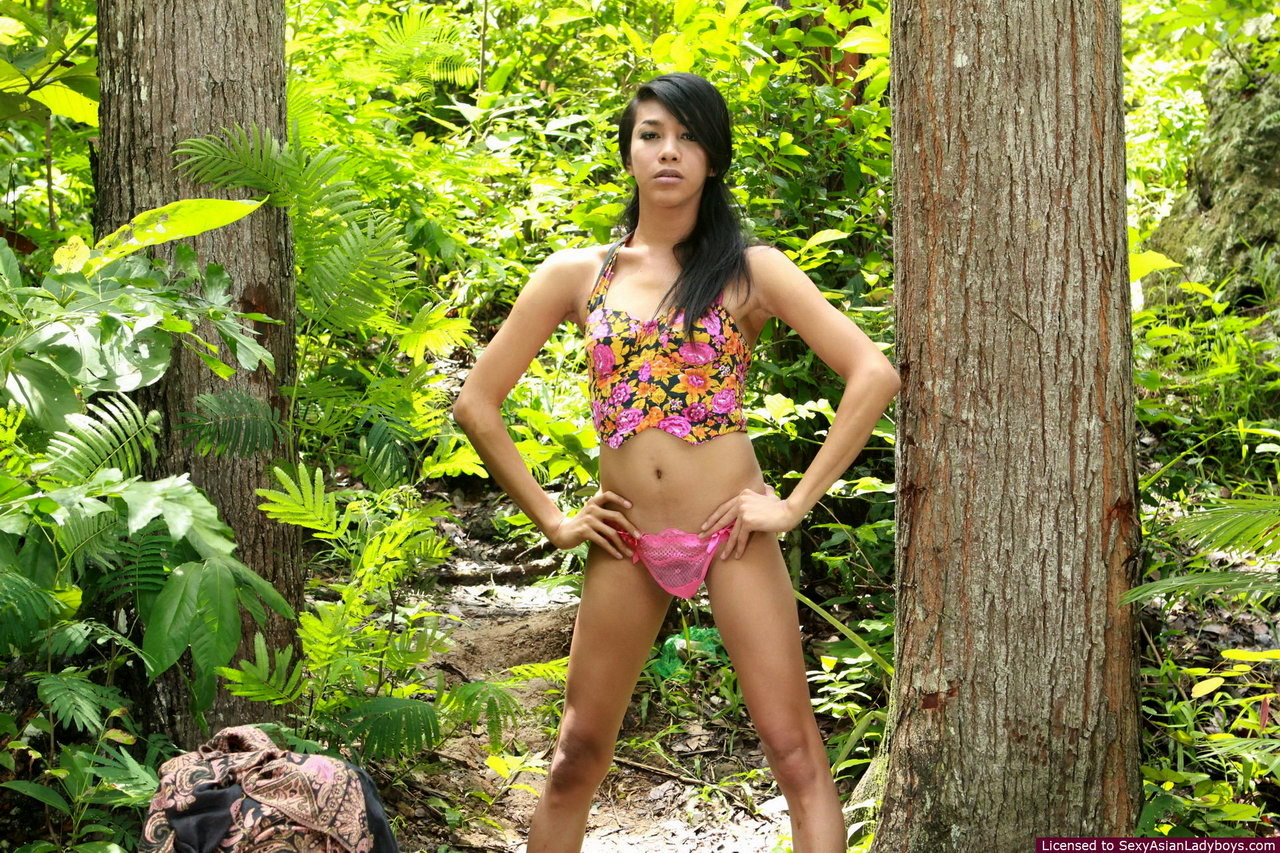 Young And Well Hung Femboy Walking Naked In A Forest